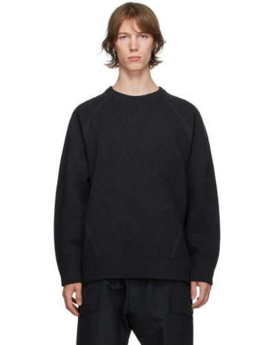 Шерстяной длинный свитер с воротником с длинными рукавами Y-3