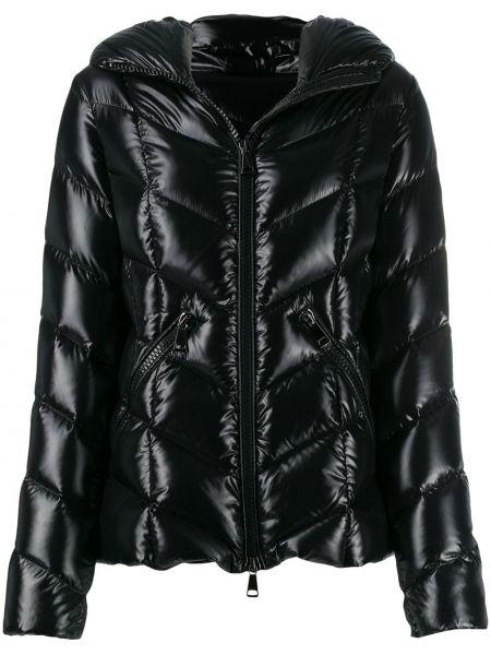 Pikowana kurtka z kapturem długa Moncler