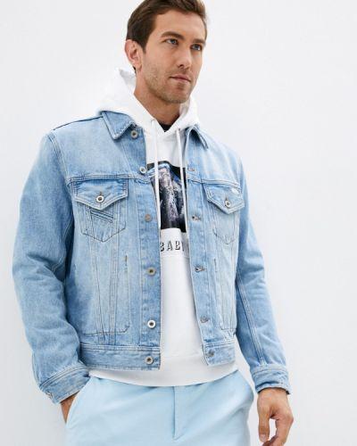 Голубая турецкая джинсовая куртка Diesel