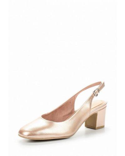 Кожаные туфли с открытой пяткой на каблуке Marco Tozzi