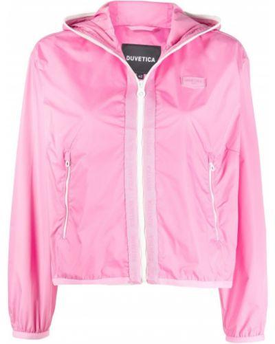 Розовая куртка с капюшоном на молнии Duvetica