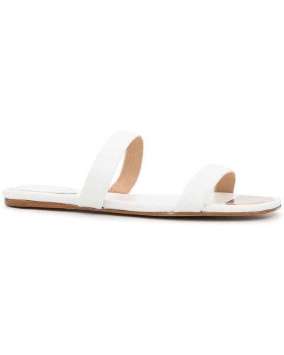 Białe sandały peep toe Schutz