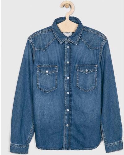 Джинсовая рубашка с узором однотонная Pepe Jeans