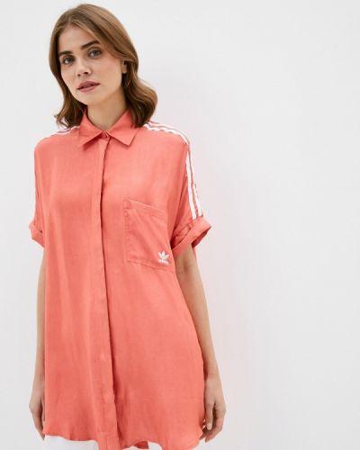 Красное платье Adidas Originals