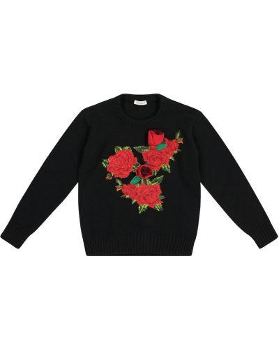 Wełniany czarny sweter Dolce & Gabbana Kids
