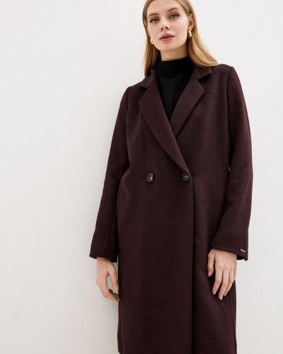Красное пальто двубортное Dasti