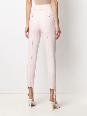 Różowe jeansy z wysokim stanem bawełniane Isabel Marant