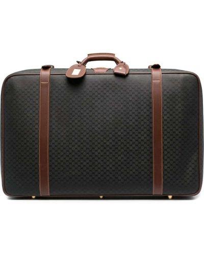 Кожаный черный чемодан винтажный Gucci Pre-owned