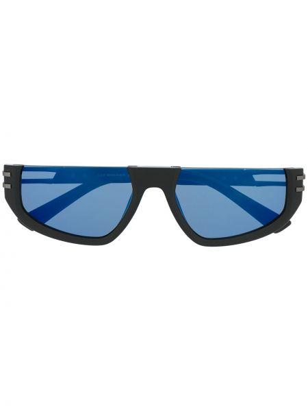 Прямые черные солнцезащитные очки прямоугольные Diesel