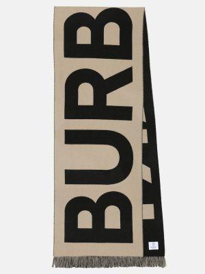 Wełniany czarny szalik Burberry