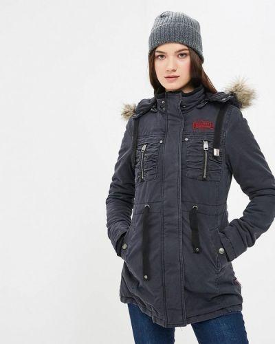 Утепленная куртка осенняя серая Lonsdale