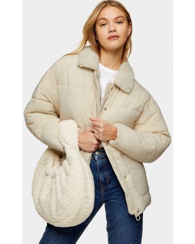Утепленная белая куртка Topshop