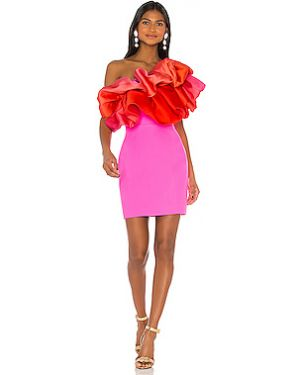 Платье мини из вискозы с кружевными рукавами Solace London