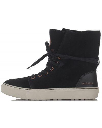 Высокие кеды кожаные на шнуровке Skechers