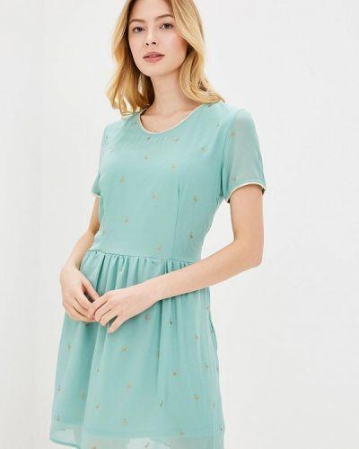 Зеленое платье льняное Sweewe