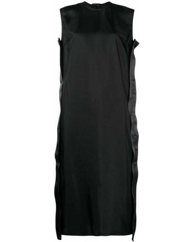 Шелковое черное платье миди без рукавов Sofie D'hoore
