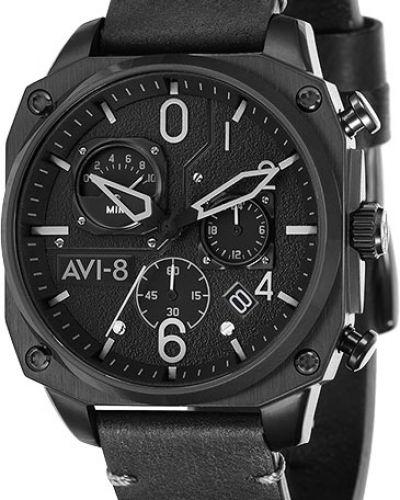 Часы водонепроницаемые с кожаным ремешком Avi-8