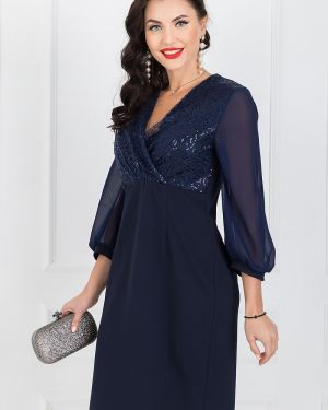 Шифоновое платье - синее Taiga