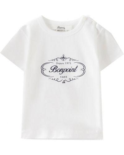 Белая футболка Bonpoint
