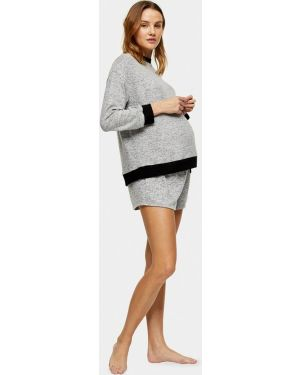 Брюки серые для беременных Topshop Maternity