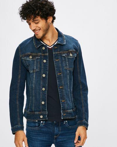 Джинсовая куртка на пуговицах легкая Blend