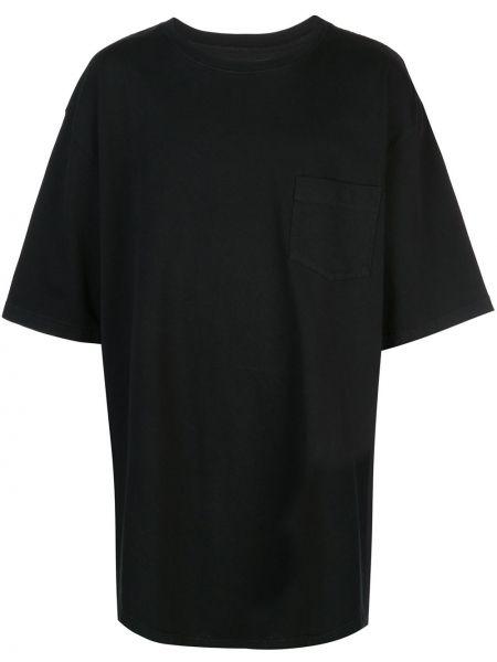 Czarny t-shirt bawełniany z printem Warren Lotas