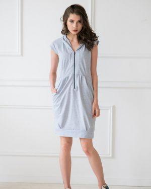 Летнее платье миди с капюшоном Sharlize