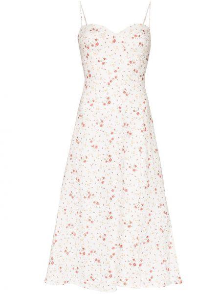 Платье миди льняное с цветочным принтом Reformation