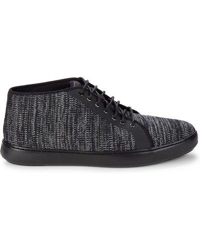 Кроссовки на шнуровке - черные Fitflop