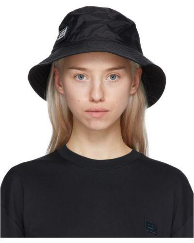 Хлопковая черная шапка с подкладкой Acne Studios