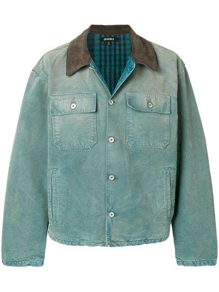 Niebieskie jeansy bawełniane z długimi rękawami Yeezy