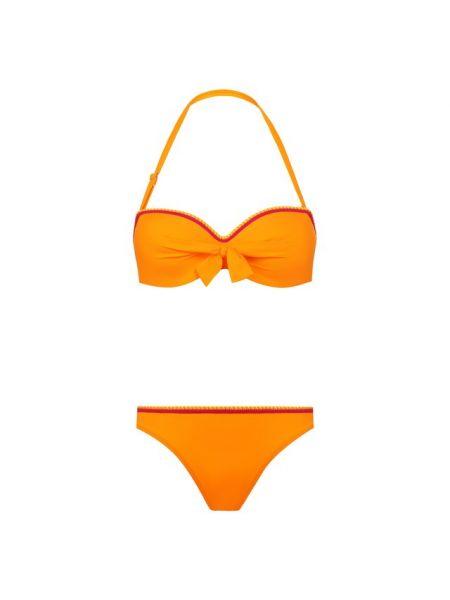 Оранжевый купальник раздельный Lise Charmel