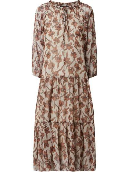 Sukienka midi z szyfonu - brązowa Miss Goodlife
