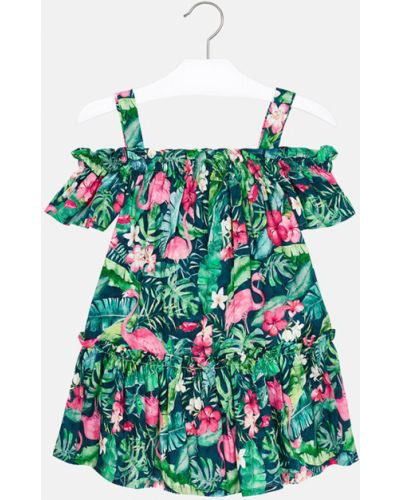 Платье расклешенное зеленый Mayoral