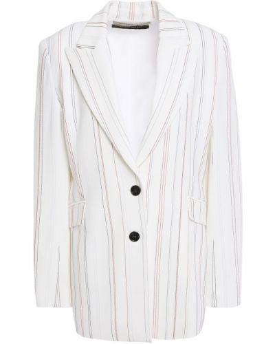 Белый пиджак с карманами с вышивкой Roland Mouret