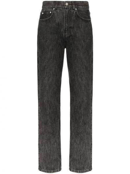 Прямые джинсы с эффектом потертости на пуговицах Ganni