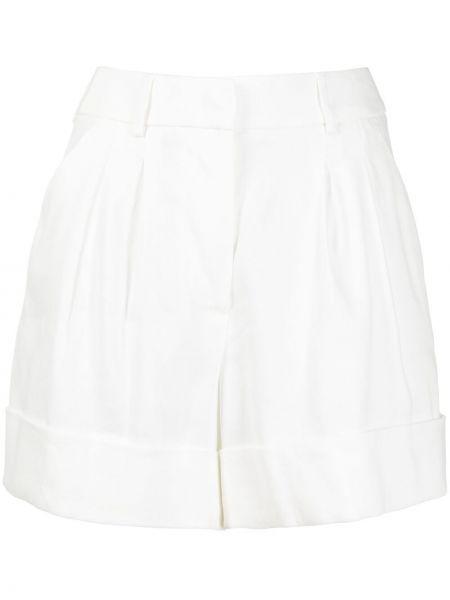 Льняные белые шорты с карманами Seventy