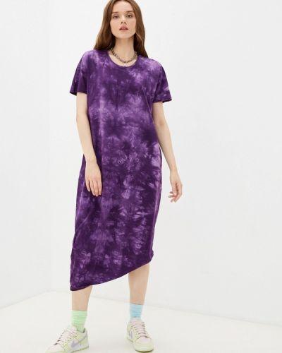 Фиолетовое платье-футболка D.s