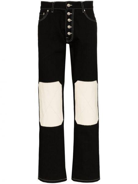Czarne jeansy z wysokim stanem bawełniane Linder