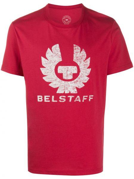 Bawełna koszula krótkie z krótkim rękawem krótkie rękawy okrągły okrągły dekolt Belstaff