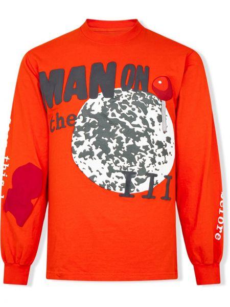 T-shirt z długimi rękawami bawełniany z printem Kid Cudi