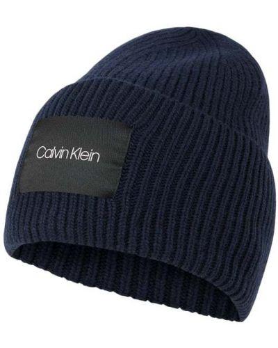 Kaszmir niebieski czapka baseballowa z paskami Ck Calvin Klein