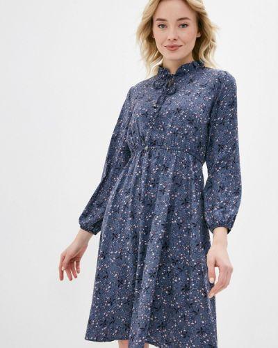 Прямое синее платье А-силуэта Froggi