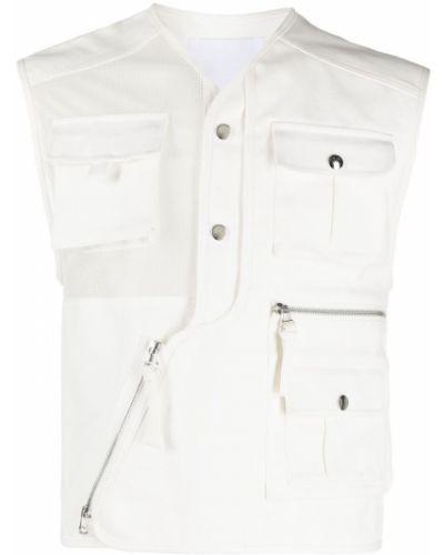 Biała kamizelka bez rękawów bawełniana Kenzo