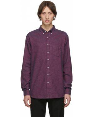 Фланелевая рубашка с воротником с заплатками с манжетами Schnaydermans
