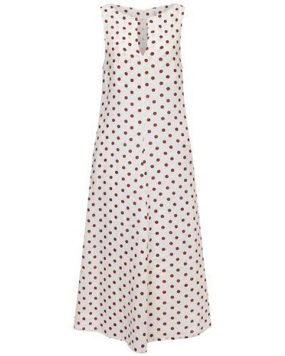 Льняное бежевое платье La Fabbrica Del Lino