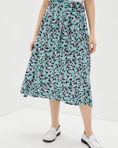 Бирюзовая юбка свободного кроя Marks & Spencer