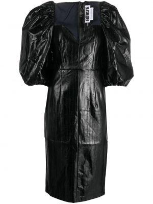 Хлопковое платье миди - черное Rotate