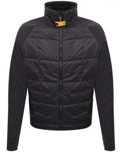Утепленная серая куртка с высоким воротником Parajumpers