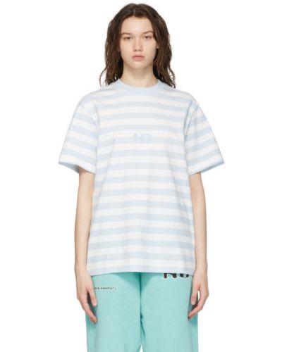 Niebieski t-shirt bawełniany krótki rękaw Noon Goons